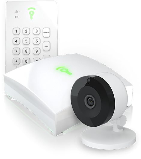Image of Hub, Keypad and Indoor Camera - Frontpoint Security Packages Starting at $99